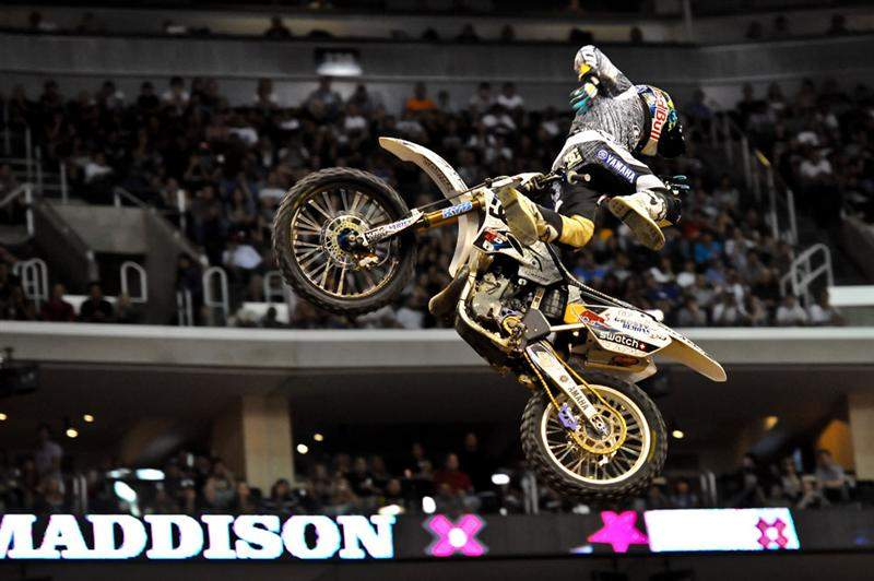 Robbie Maddison started his silver-medal body varial like this...