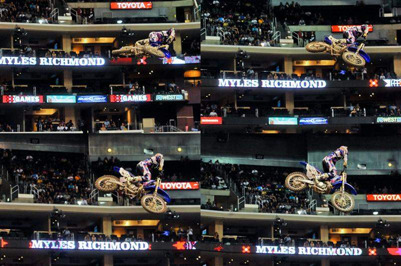 Myles Richmond's massive whips (he's moving right to left in this sequence of photos, which are ordered left to right) were very popular at Speed & Style, but he didn't make the main show.