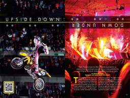 Travis Pastrana and his Nitro Circus bring nine-man synchronized backflips, soaring beverage coolers, and broken bones aplenty to Oz. Page 132.