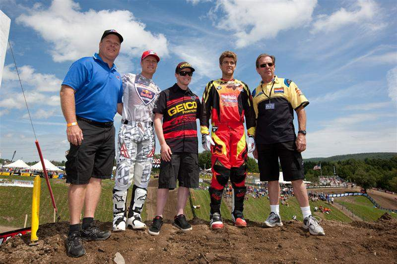 Team USA for 2010: Andrew Short, Trey Canard and Ryan Dungey (riders), in order from left to right.