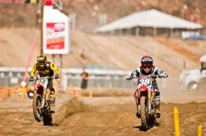 Trey Canard (38) and Brett Metcalfe (24) on Press Day at Pala.
