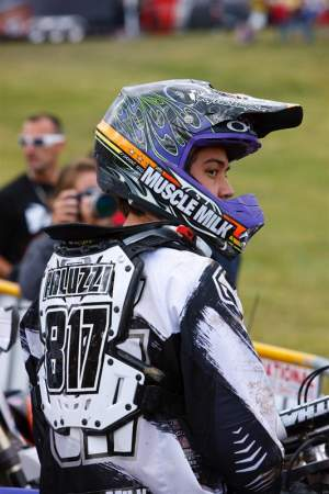 Nick Paluzzi made his AMA Pro debut with the JGR/Muscle Milk/Toyota team last Saturday.