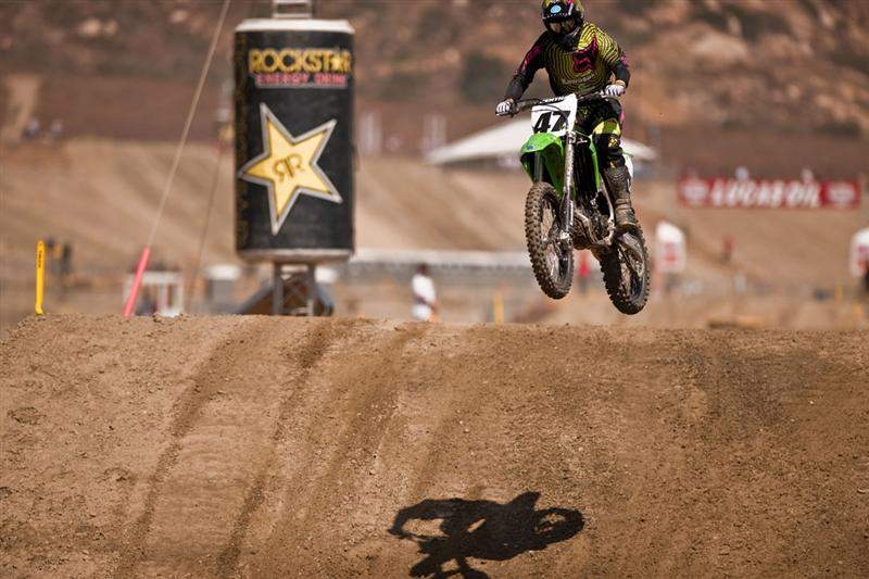 Jeff Emig overjumped the finish-line jump a bunch of times in a row. OJ is not your friend...