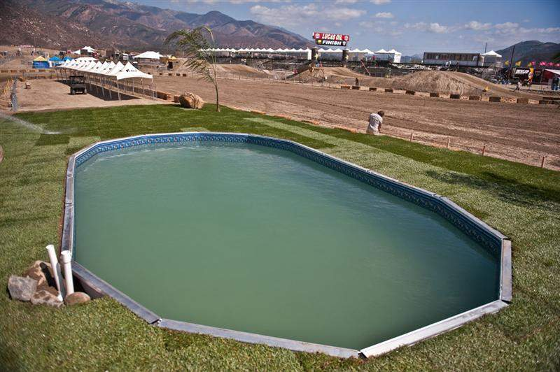 There are actually pools installed in multiple places around the track.