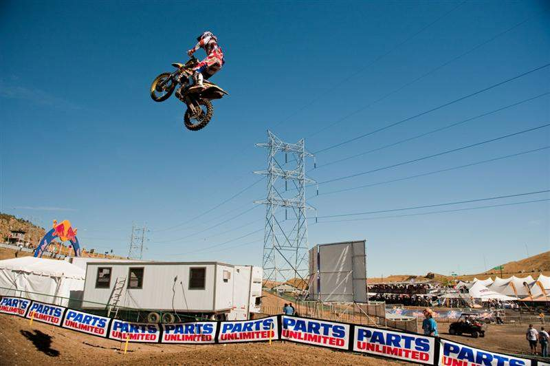 Dungey and a bunch of other MX1 and MX3 riders were sailing this quad jump. Dungey was the first.