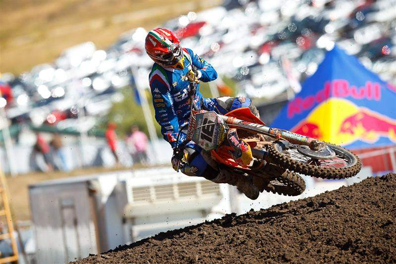 Antonio Cairoli was second-fastest in MX1 qualifying.