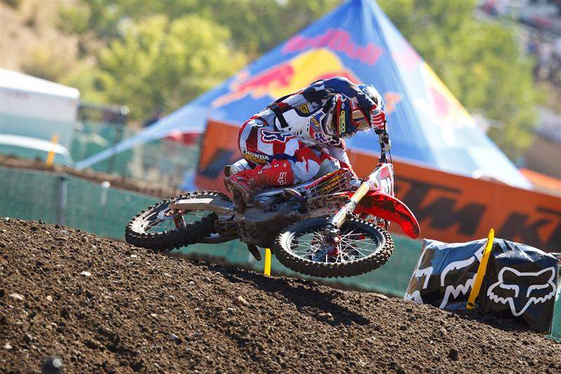 Trey Canard was fastest in MX2 qualifying.