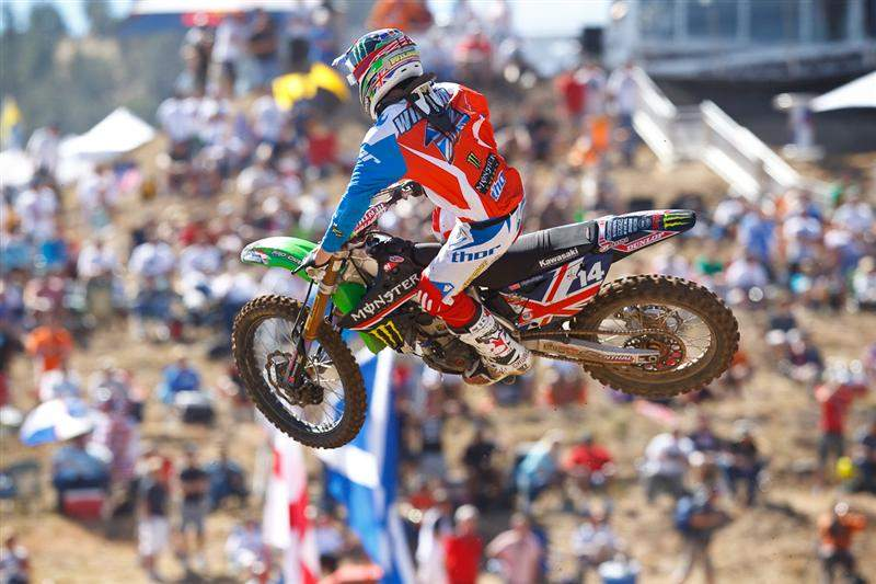 Dean Wilson was fourth-fastest in MX2 qualifying, behind Ken Roczen.