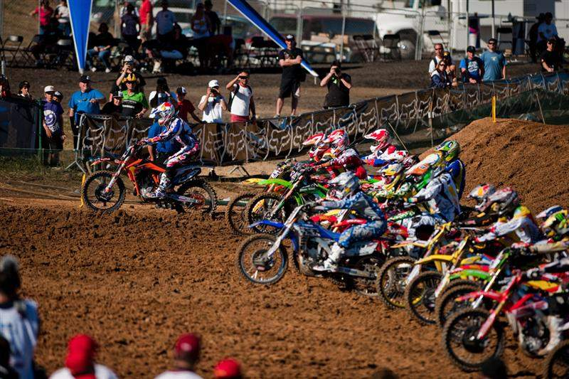 Off the MX2 start, it looked like Marvin Musquin (5) would have the holeshot, but...