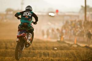 Seely grabbed a third in moto one at Pala.