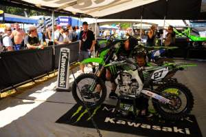 With both riders out hurt or sick, the Kawasaki squad has turned its attention to Nick Wey and Sara Price. They may be bringing in Billy Mackenzie next weekend, too.