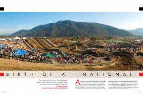 After Glen Helen's sudden departure from the series, young Pala Raceway stepped up to keep AMA Motocross in Southern California. A lot went right, but some changes need to be made. Page 148.