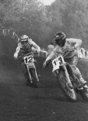 Billy Fosnock (#13) at Loretta Lynn's in 1989.