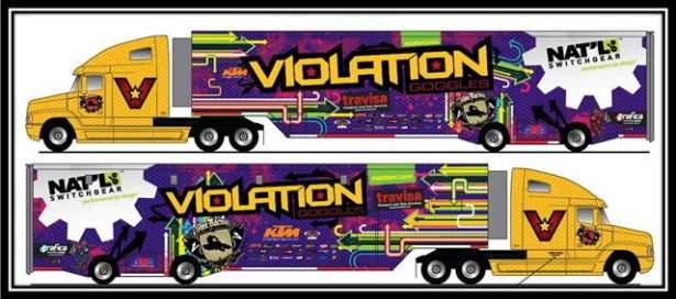 Violation truck