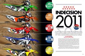 David Pingree assembled the finest Racer X Tested crew yet to shake down the factories' 2011 models. Here's how he pulled it off. Page 122.