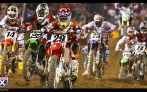 Andrew Short in the pack at Anaheim