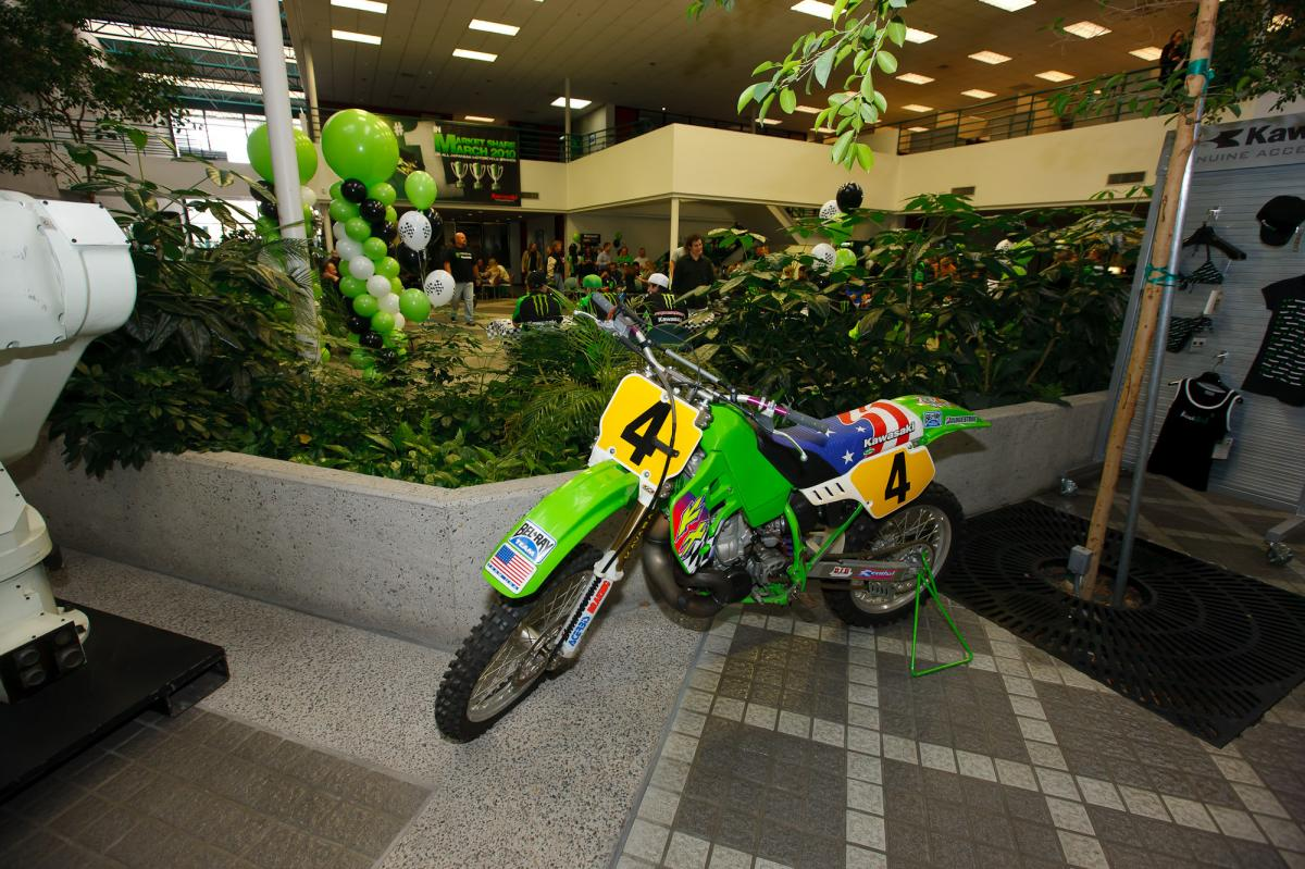 KX500 in the Kawasaki lobby
