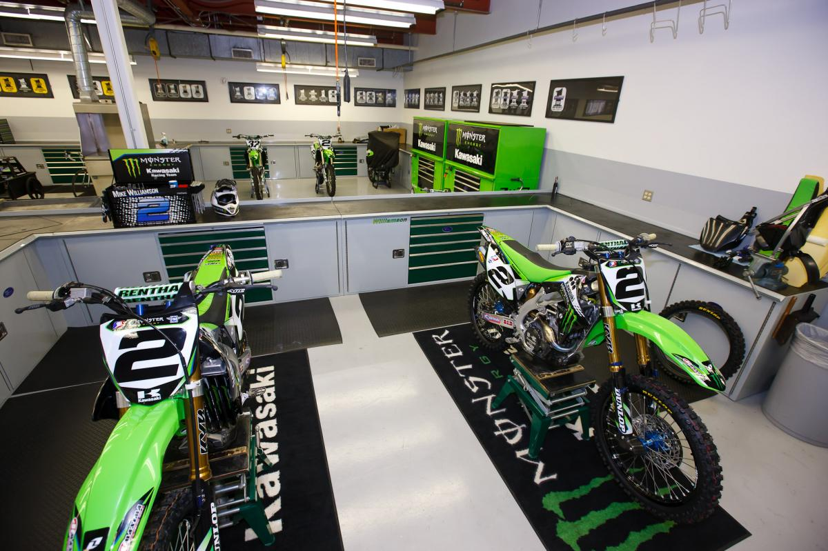 Inside the team race shop