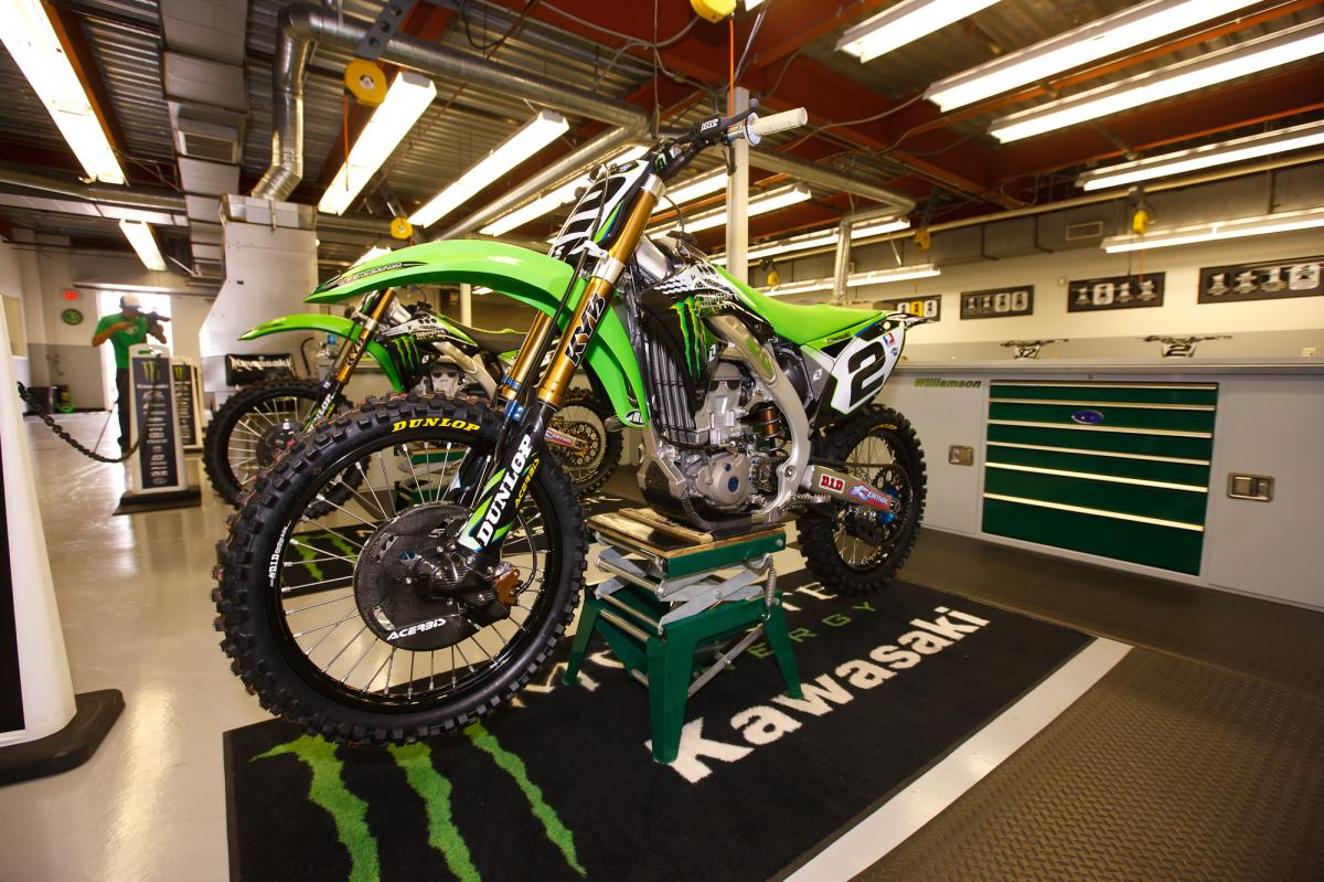 Ryan Villopoto's KX450 race bike