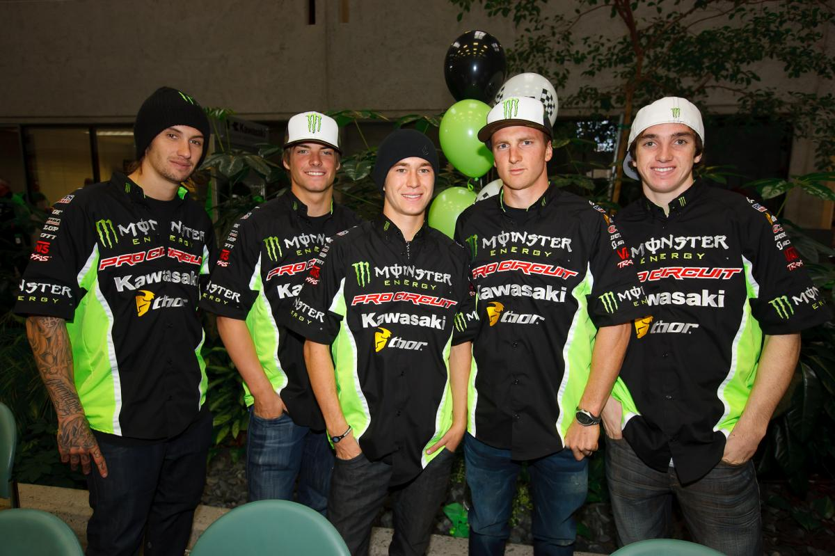 Team Pro Circuit: Hansen, Tickle, Baggett, Rattray, Wilson