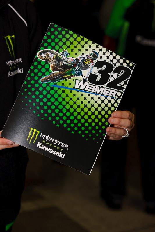 Jake Weimer's get well card was signed by everyone