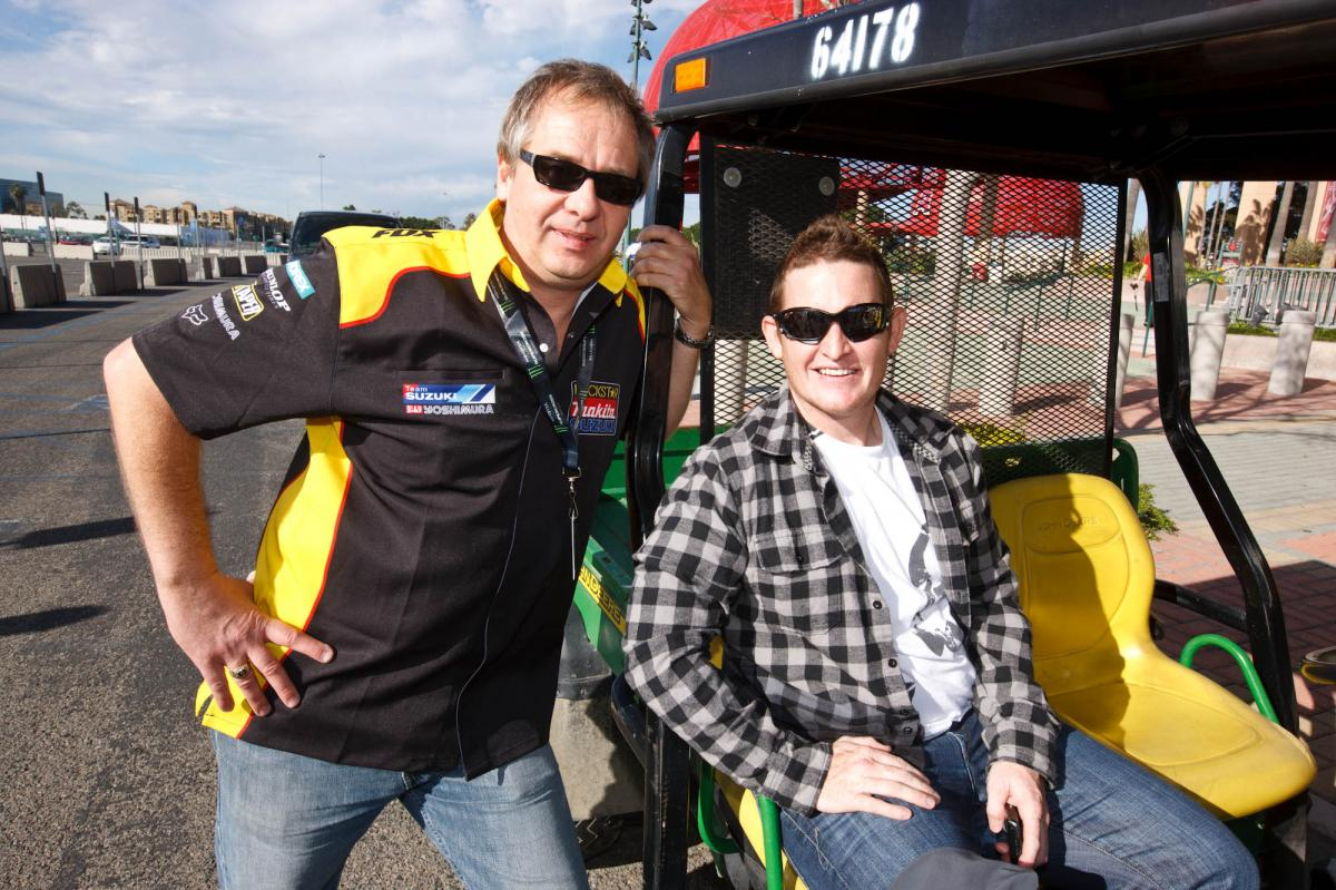 Jake Klingensmith and Ricky Carmichael