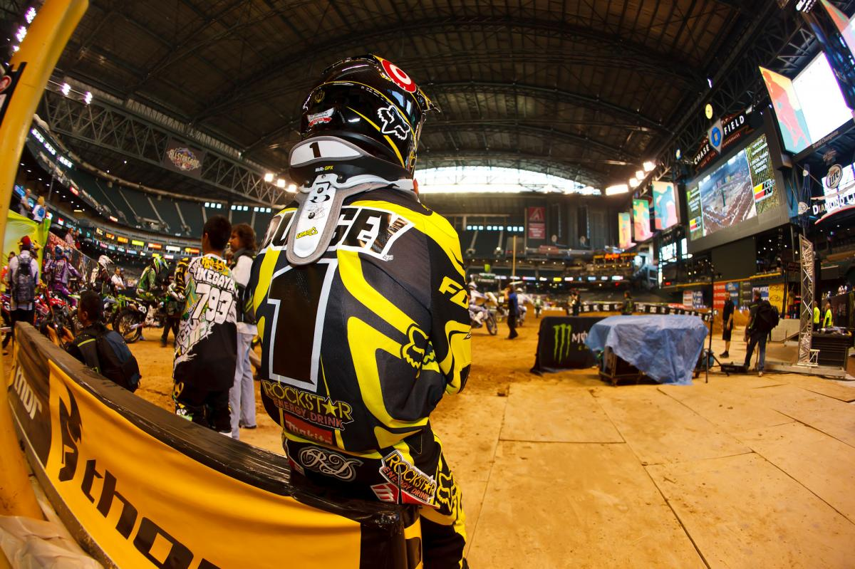 Ryan Dungey waits for second practice