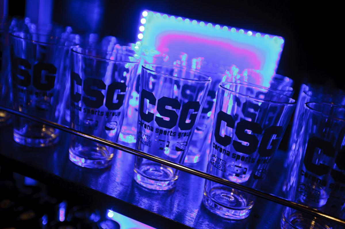 CSG's custom glassware
