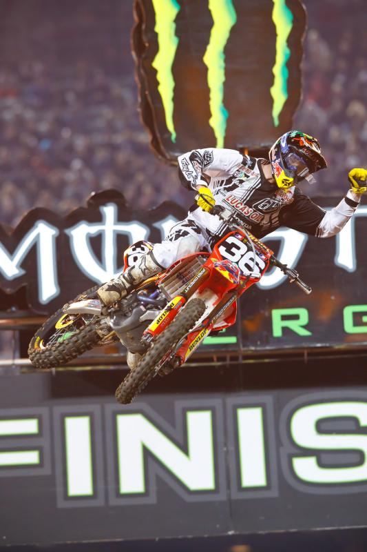 Cole Seely's first SX win