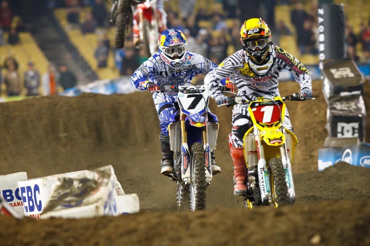 james Stewart chases Ryan Dungey