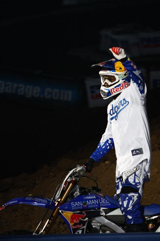 James Stewart waving to the crowd