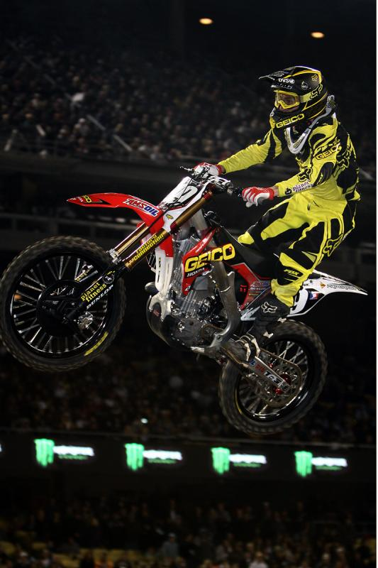 Eli Tomac scored his first ever SX podium in LA