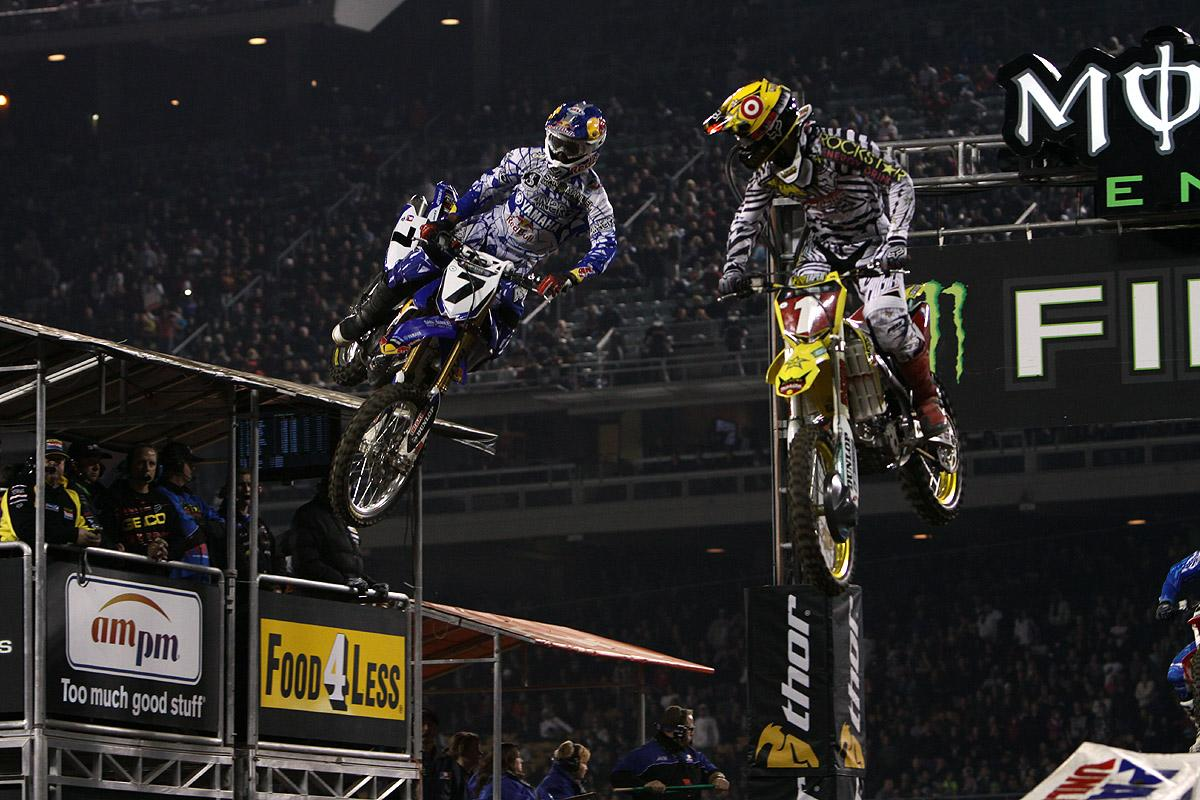 Stewart and Dungey battled for a majority of the night