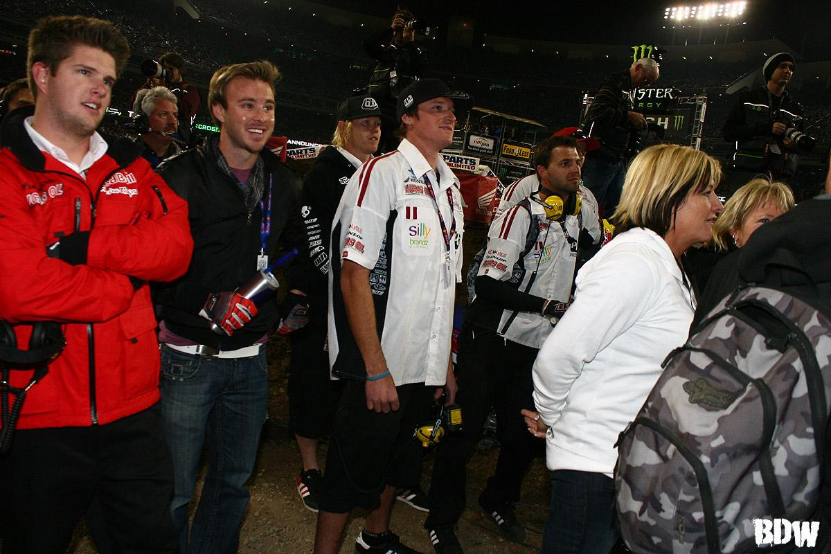 The TLD team anxiously waiting for their first ever SX win