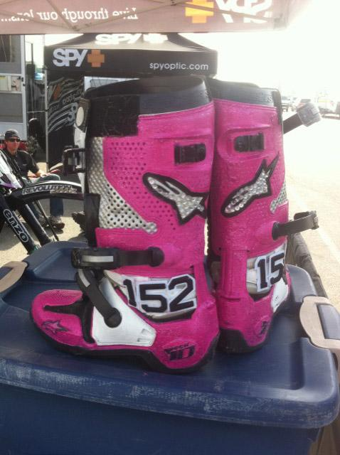 Scott Champion will be rockin Pink boots tonight