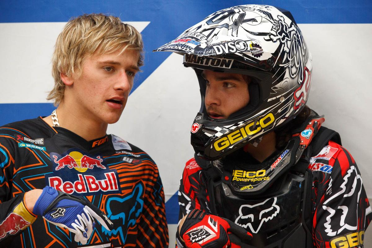 Ken Roczen and Blake Wharton