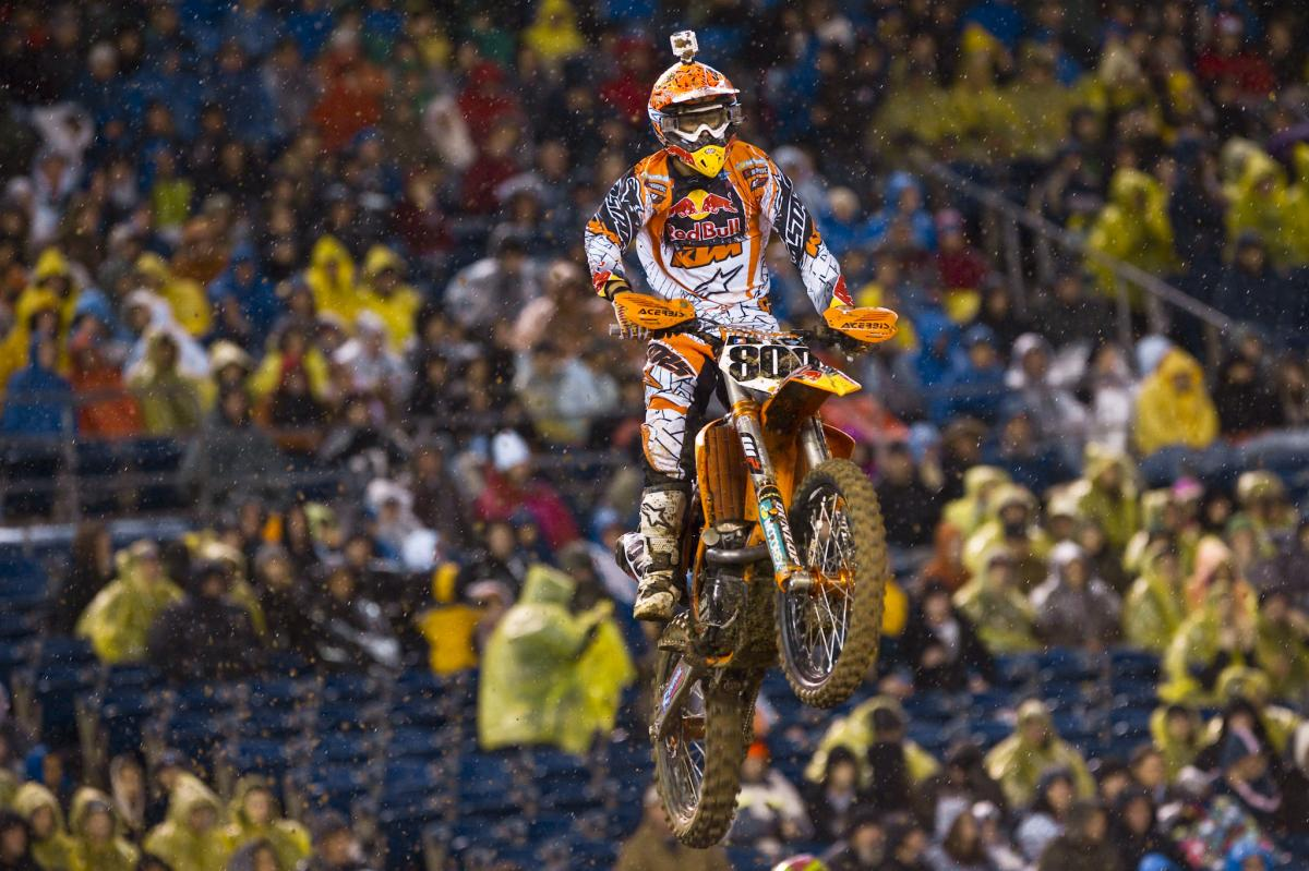 Mike Alessi is slowly gaining confidence on the KTM