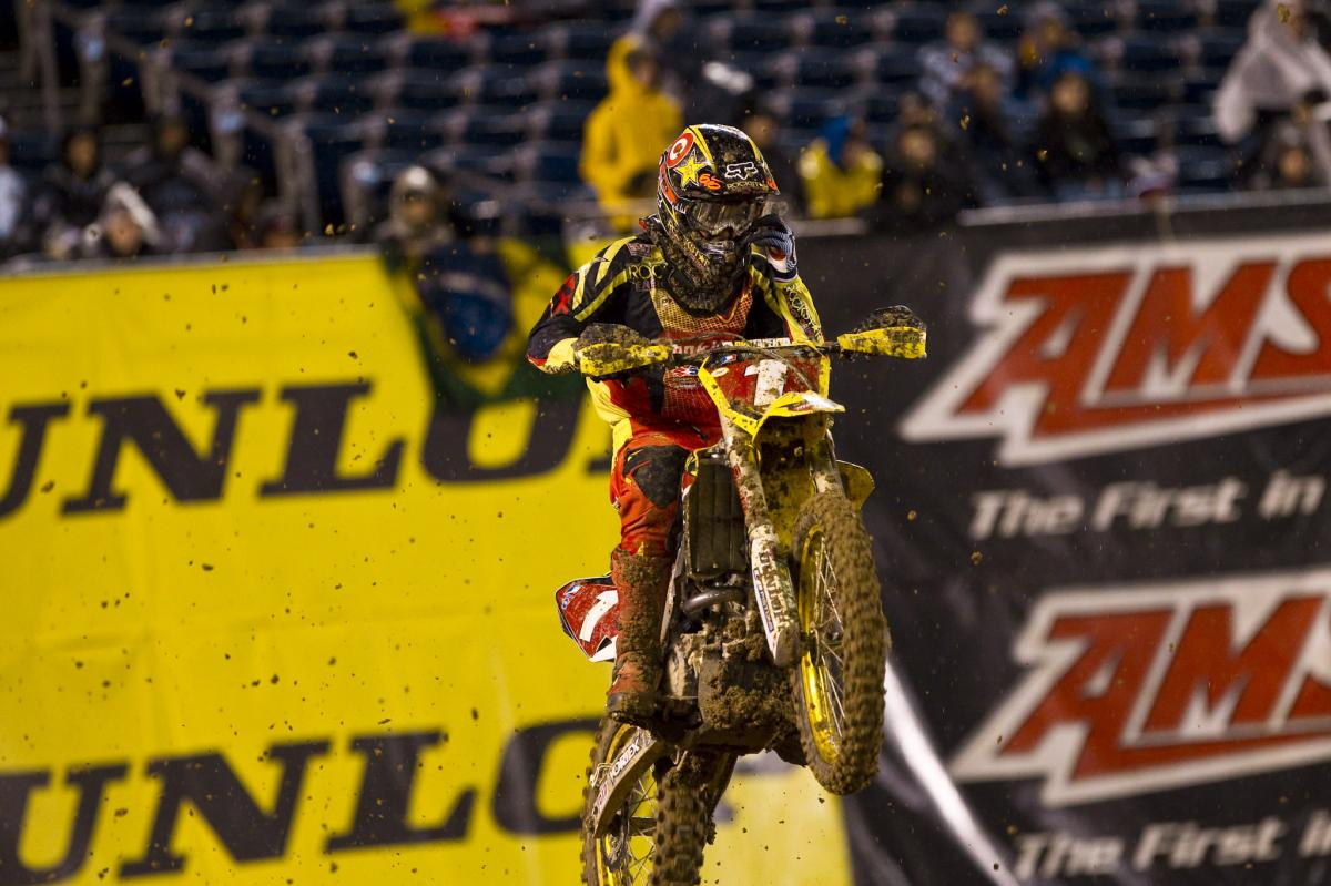 Ryan Dungey managed a quiet second place finish behind Reed
