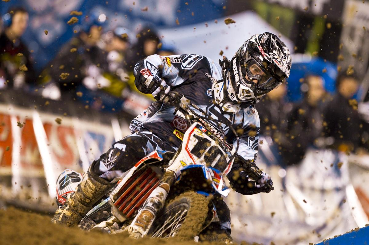 Justin Brayton would struggle in the mud and finish tenth