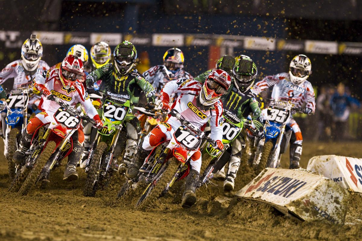 Eli Tomac grabbed the holeshot and never looked back en route to his first career SX victory