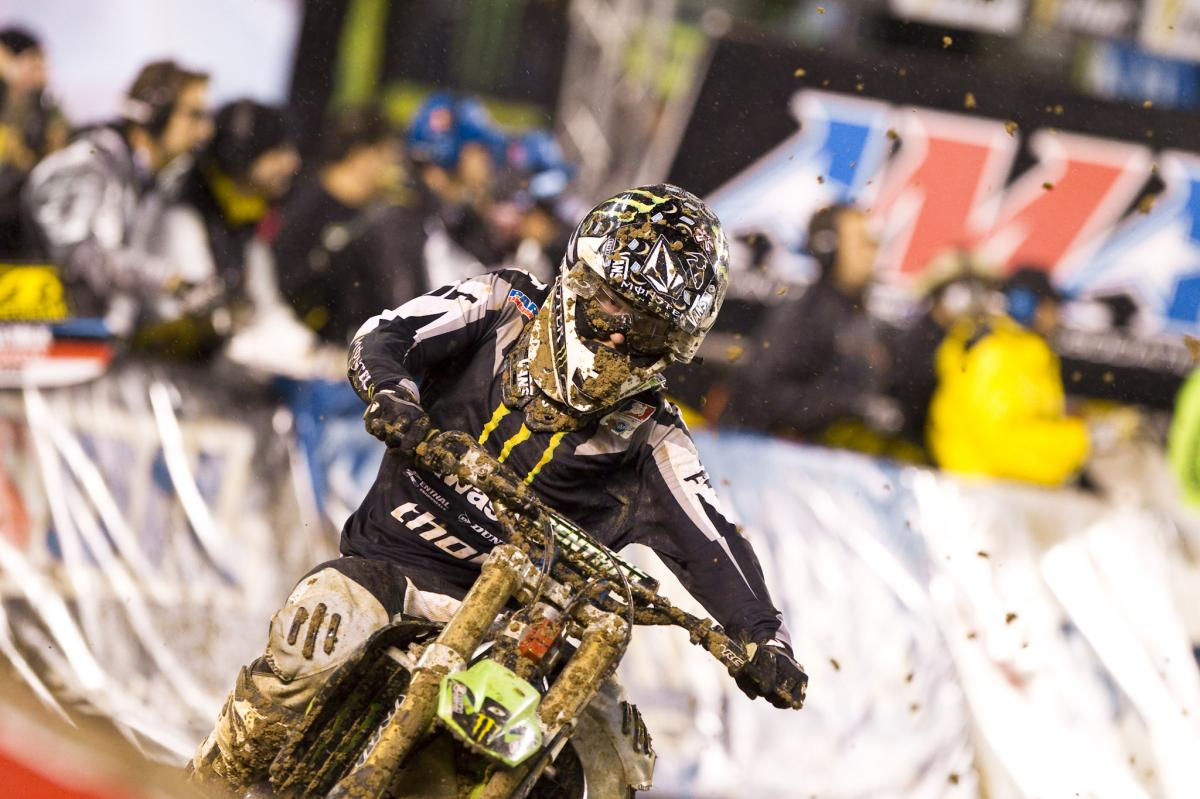 Villopoto lost his front number plate but still managed a seventh place finish