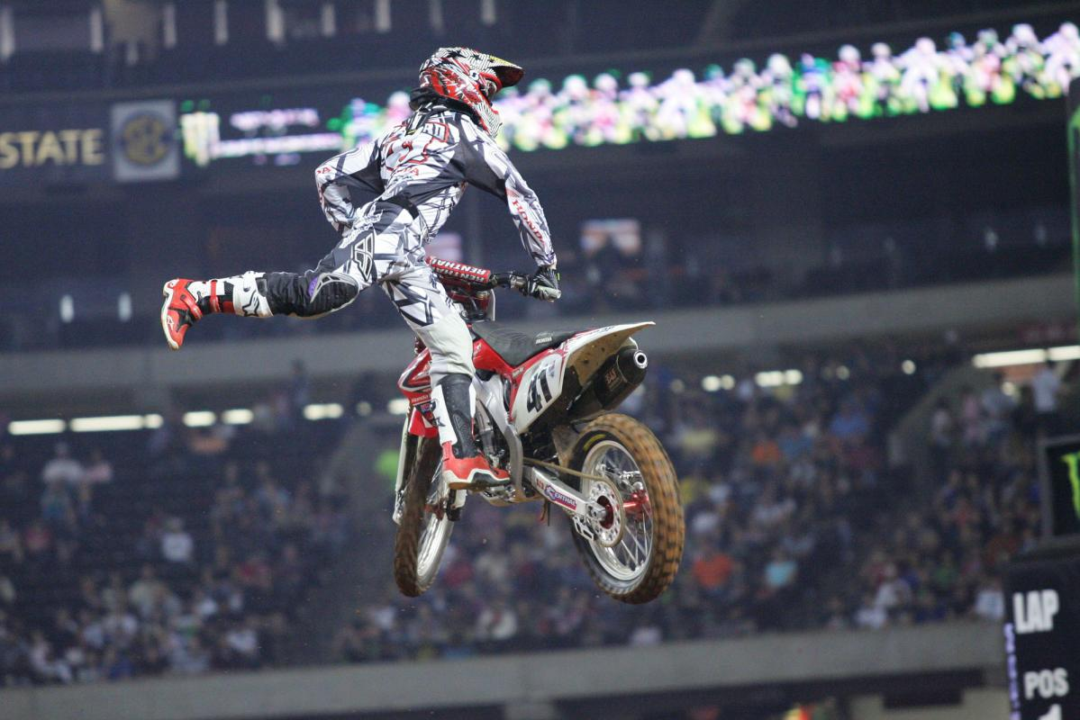 Trey Canard during opening ceremonies.