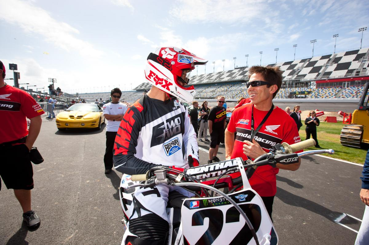 Chad Reed and Honda's Erik Kehoe