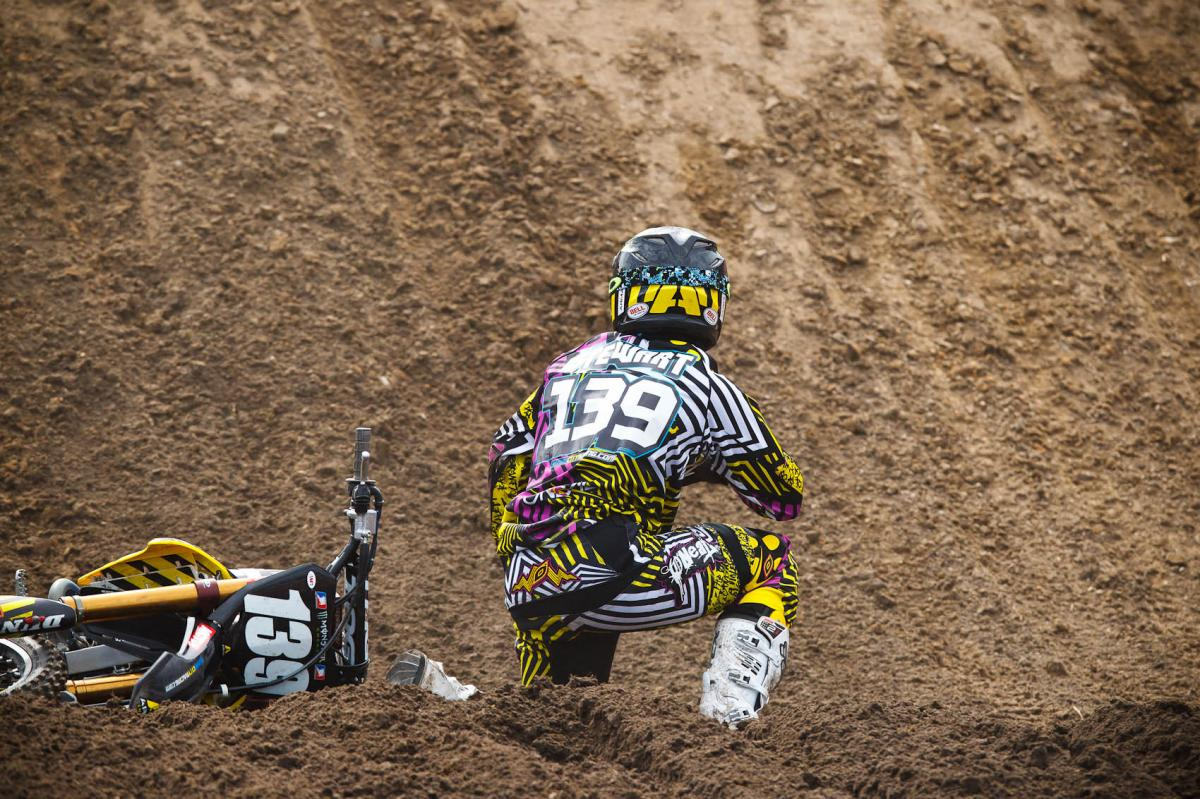 Malcolm Stewart had a bad get off in 250 practice 2