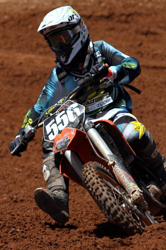 Brady Kiesel finished on the podium with a third place in the 250 4-stroke Non-Pro class