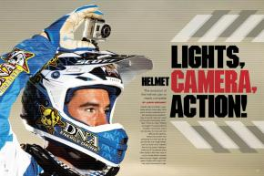 Few technologies have more potential to improve race coverage than helmet cameras—so why do so few riders want to wear them? Here's a look at the helmet cam's history and potential future. Page 122.