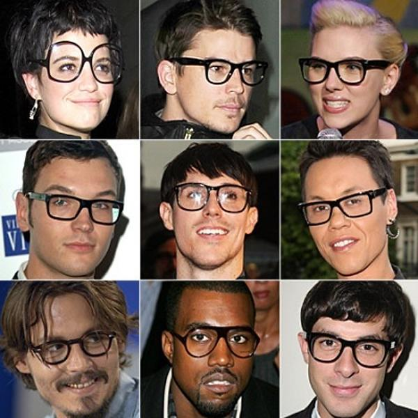 Black Frame Glasses Celebrities Wear : Racerhead #19 - RacerxOnline