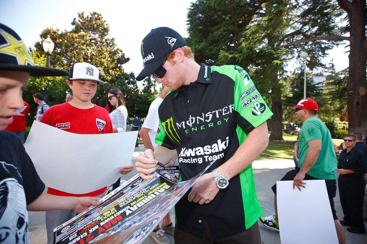 RV signs a Hangtown race poster