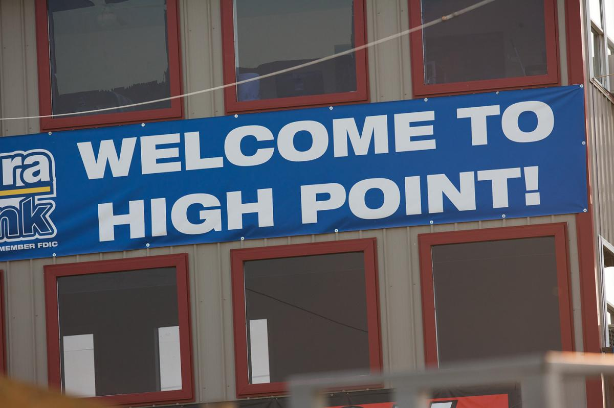 We then headed out to the track. Welcome to High Point!