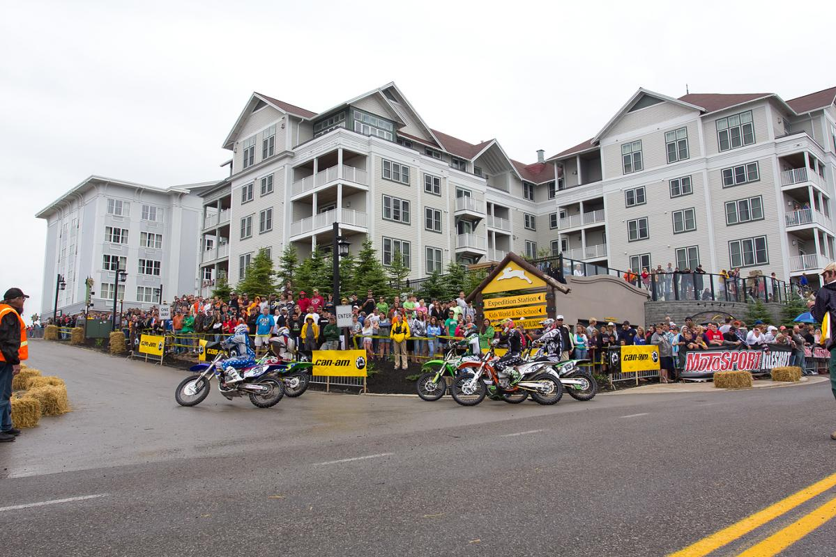 Snowshoe Village is home to the start of the race.